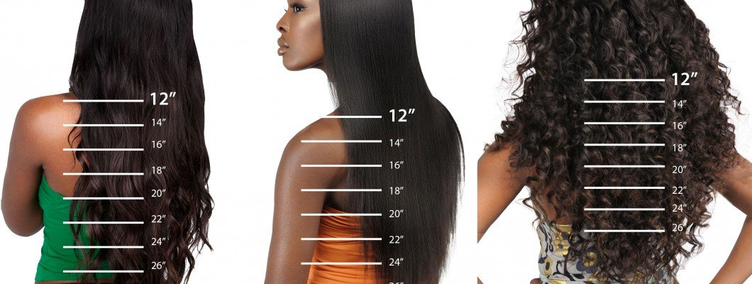 The Measure the Length of the Hair Weft