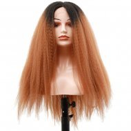22 Inches Synthetic Kinky Straight Ombre Lace Front Wigs