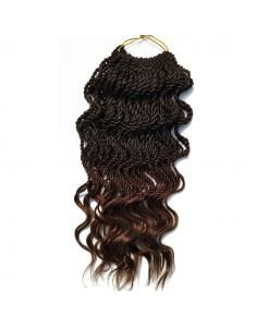 "Wavy Crochet Hair | Twist Braids | Crochet Senegalese Twist | Wavy Braiding Hair For Black Women (18"" 6packs, T1B/30#)"