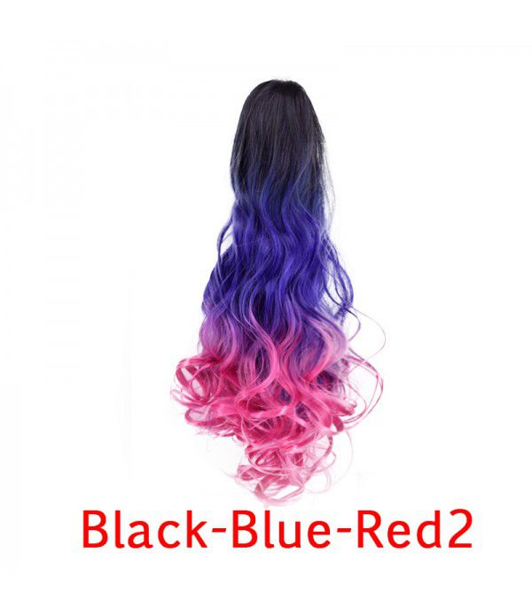 Three Tone Claw Ponytail Long Big Wavy Claw Curly Ombre Pony Tail Clip in Ponytail Extensions