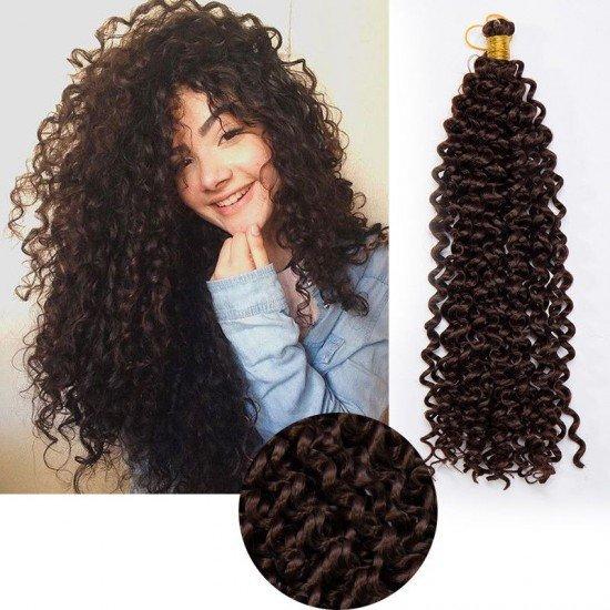 14 Inches 3 Packs Kinky Curly Hair Water Wave Hair Synthetic Fiber Braiding Hair Elighty Hair
