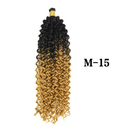 14 Inches Ombre Kinky Curly Water Wave Hair