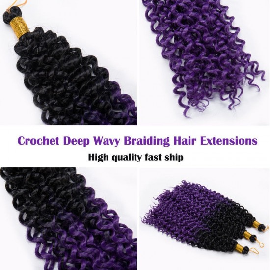 14Inch Ombre Kinky Curly Water Wave Hair
