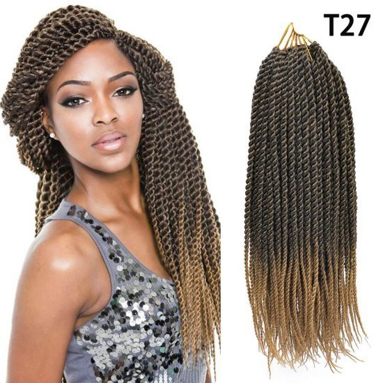 8 Packs Senegalese Twist Crochet Braids Hair