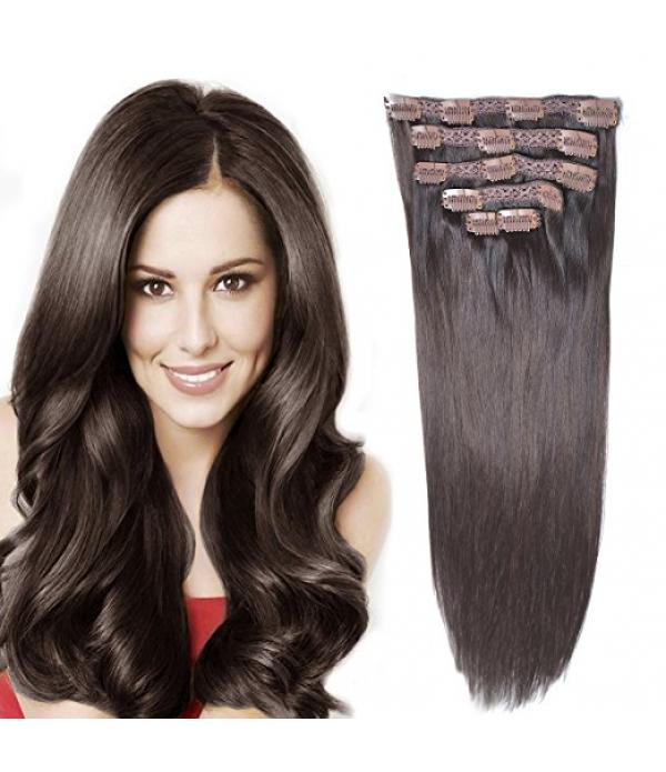 "14"" Remy Human Hair Clip in Extensions for Wo..."