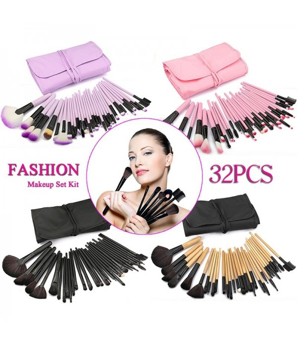 32pcs Pro Makeup Brush Set Professional Cosmetic E...