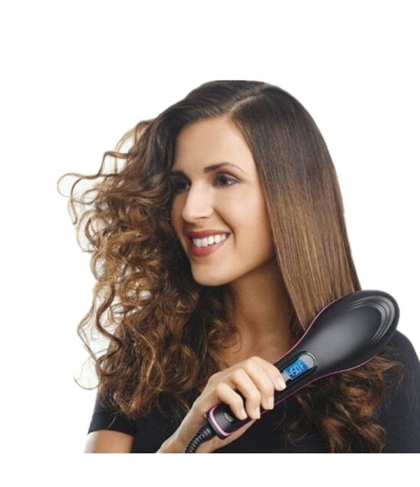 Women Fashion Automatic Hair Straightening Comb US/EU Plug