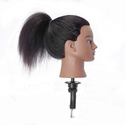 Cosmetology Mannequin Head With Human Hair