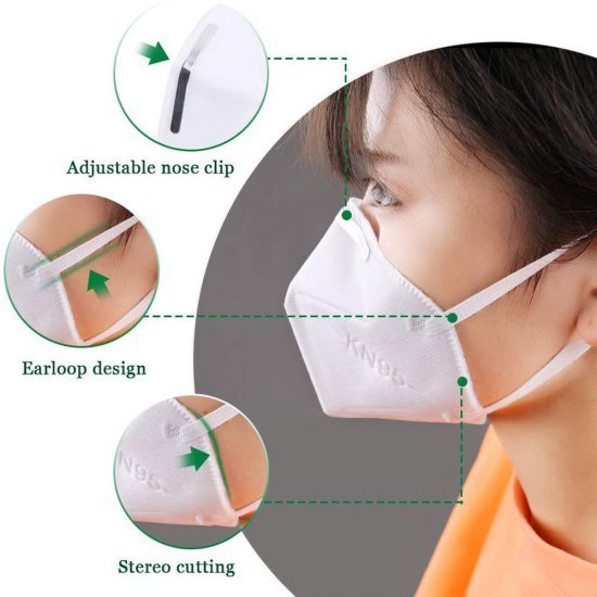 KN95 Particulate Respirator Dust Anti Pollution Face Masks