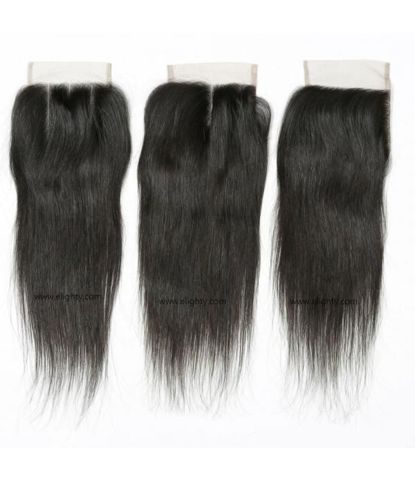 Hair Brazilian Straight Virgin Hair Closure 4x4 Ha...