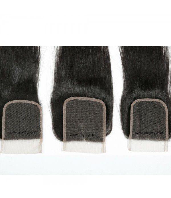 """Hair Brazilian Straight Virgin Hair Closure 4x4 Hair natural color (10""""4x4 closure, natural color)"""