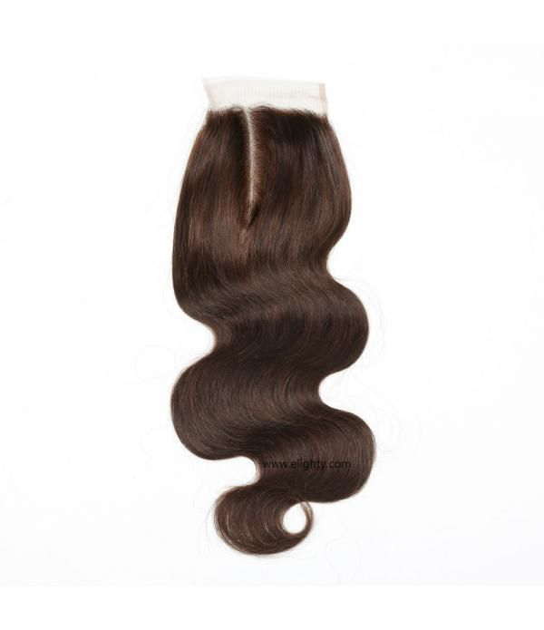 Brazilian Lace Closure 4x4 Free Part 100% Body Wav...