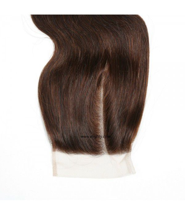 Brazilian Lace Closure 4x4 Free Part 100% Body Wave Human Hair Brazilian Virgin Hair, 6A Natural Color (12 inches Free Part)