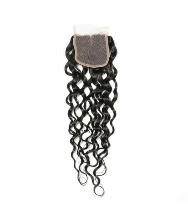 Brazilian Lace Closure 4x4 Middle Part 100% Natura...