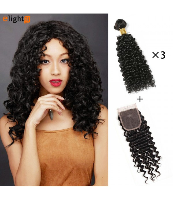 Brazilian Curly Hair, 100% Unprocessed Human Virgi...