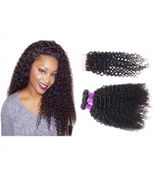 Brazilian Curly Hair, 100% Unprocessed Human Virgin Kinky Curly Hair Weave Hair Extensions 3 Bundles