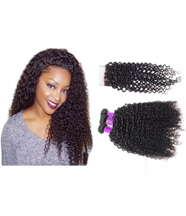 10-26 100% Brazilian Unprocessed Virgin Kinky Curl...