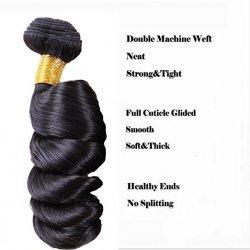 3 Bundles loose wave hair with closure