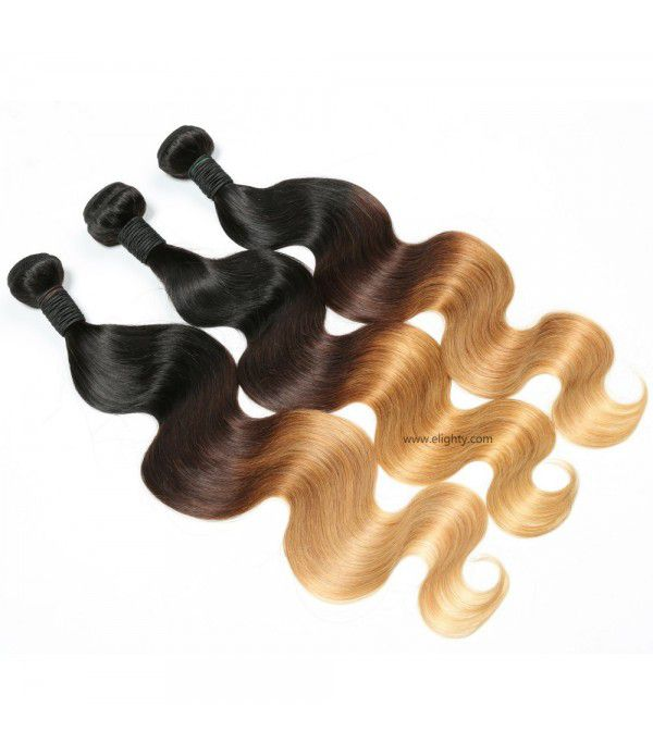 Brazilian Ombre Body Wave, Virgin Human Hair Extensions, Bundles With Closure