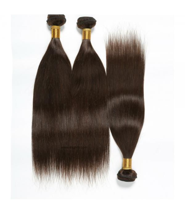 3 Bundles Peruvian Straight Virgin Human Hair Exte...