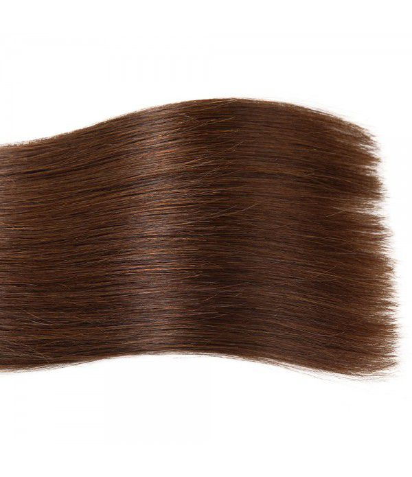Medium Brown Tape in Hair Extensions Silky Straight Skin Weft Human Remy Hair