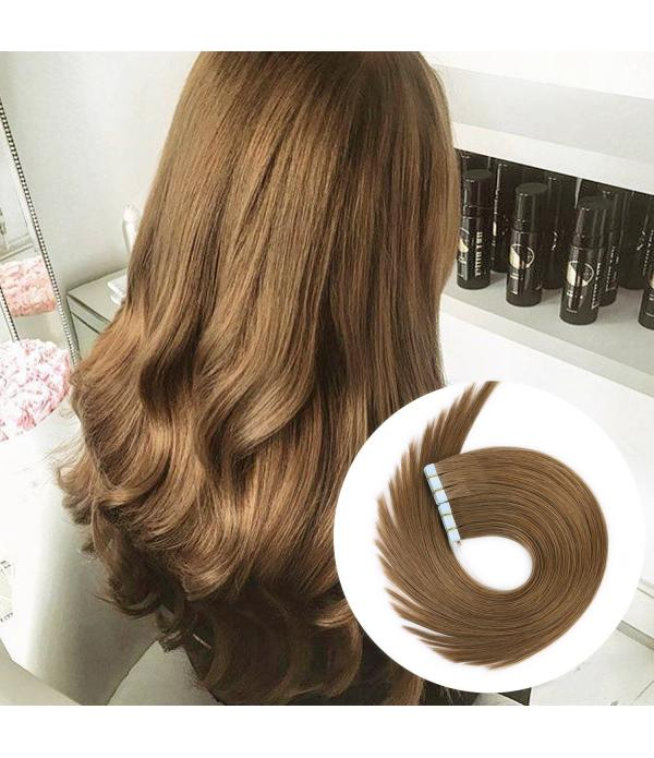 Tape in Remy Hair Extensions 20pcs 40g/pack Silky ...