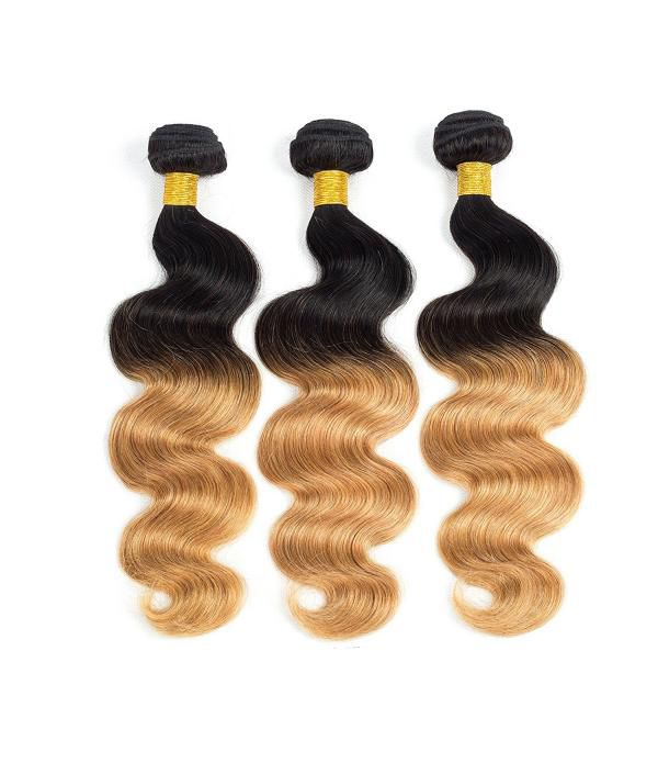 8A Grade peruvian hair human hair Extensions 3 Bundle  Body Wave Hair Weft Bundles 100g/pcs #1B/27