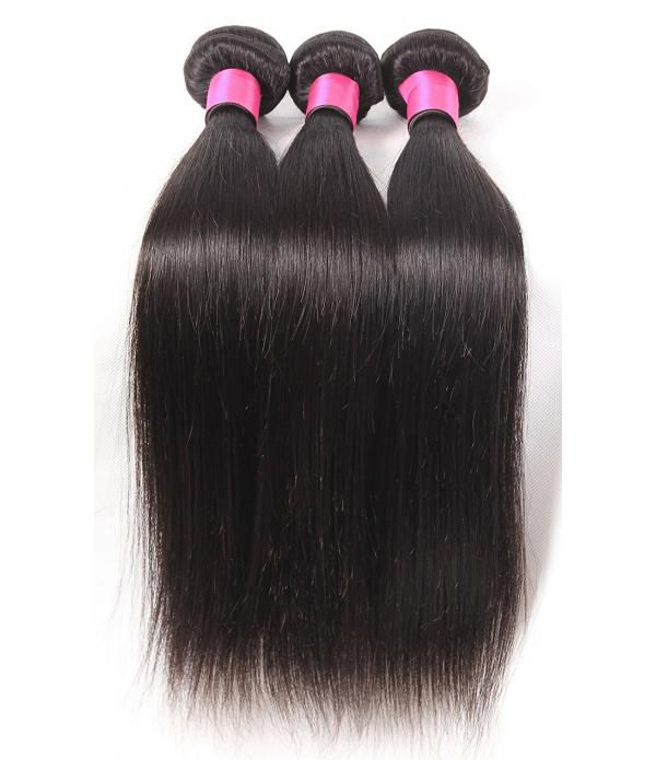 8A Grade 100% Unprocessed brazilian straight hair for Braiding Soft Tangle Free 3 Bundles for One Pack 100g/pcs Hair Extensions (18 18 18, Natural Color)