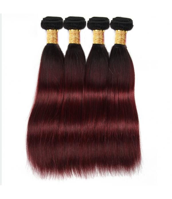 Grade 8a Hair Virgin 99j Burgundy Hair Weave 3 Bundle Hair Deals Silky Straight Hair(99j 16 18 20 inches)