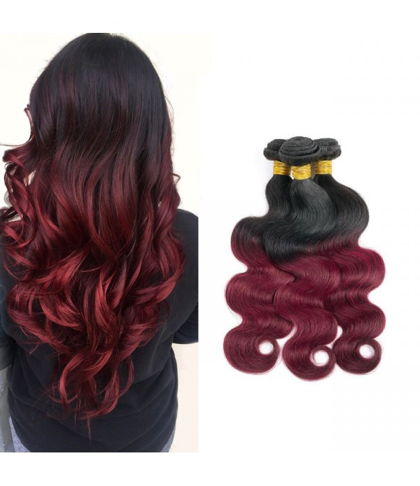 Peruvian Body Wave Grade 8a Hair Burgundy Hair Wea...
