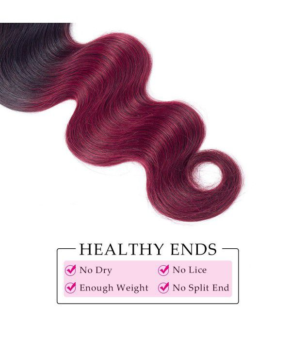 "Peruvian Body Wave Grade 8a Hair Burgundy Hair Weave Peruvian Hair Bundles Black Rose 3 Bundles 1B/99J 100g 3pcs(16"" 18"" 20"")"