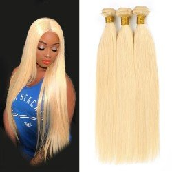3 Bundles Blonde Straight Hair Extensions