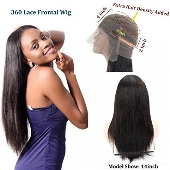 Density 360 Lace Straight Hair Wigs