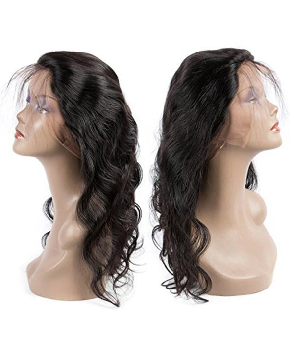Full Lace Human Hair Wigs With Baby Hair for Black Women Glueless Virgin Brazilian Hair Wigs Water Wave Natural Color