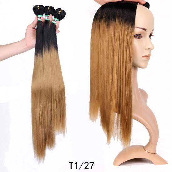 3Bundles Ombre Yaki Straight Weaving Hair