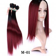 3 Bundles Ombre Yaki Straight Weaving Hair