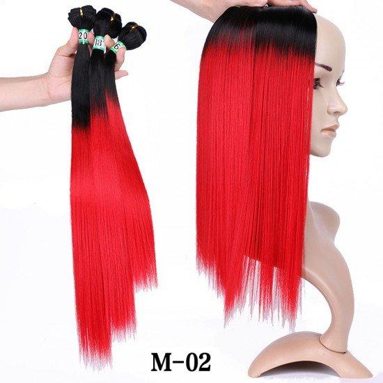 3 Bundles Ombre Yaki Straight Weaving Hair