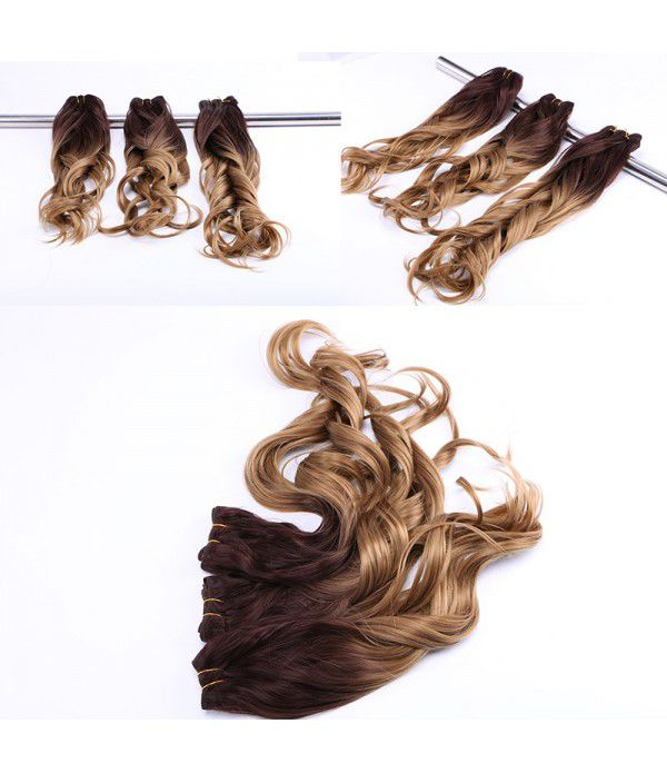 3 Bundles Kanekalon Curly Hair Extensions | Ombre Color synthetic Hair Extension For Women