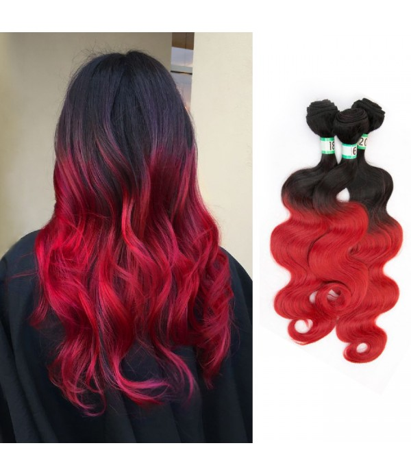 Ombre Hair Extensions | Body Wave Hair | Synthetic...