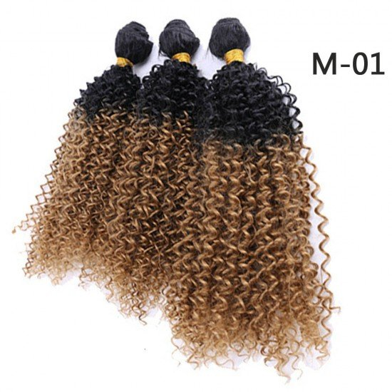 3 Bundles Ombre Kinky Curly Hair Extensions