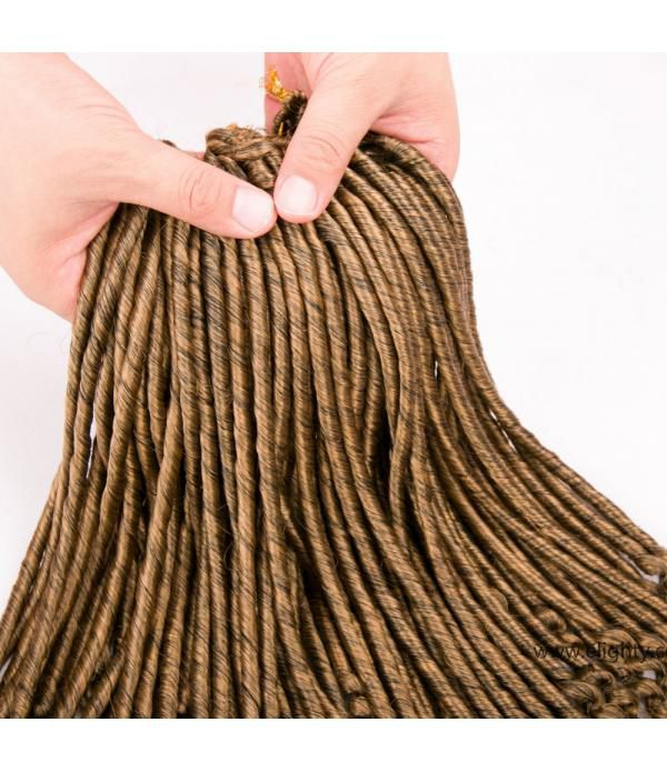 Kanekalon Braiding Hair | Goddess Faux Locs | Faux Locs Curly Ends | Synthetic Hair Extensions Dreadlocks 6 Packs