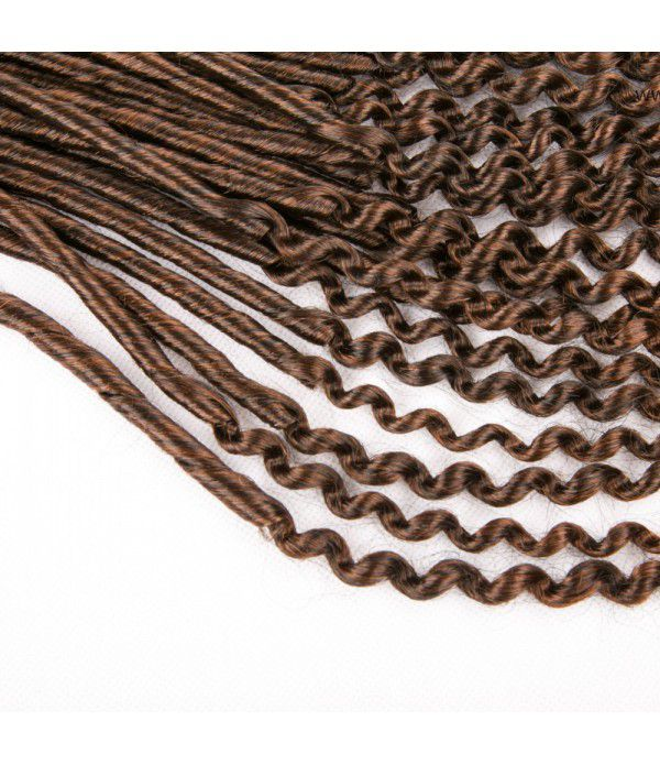 Crochet Faux Locs Curly Ends wavy crochet hair Synthetic Fiber Hair Extensions 3Packs 20''