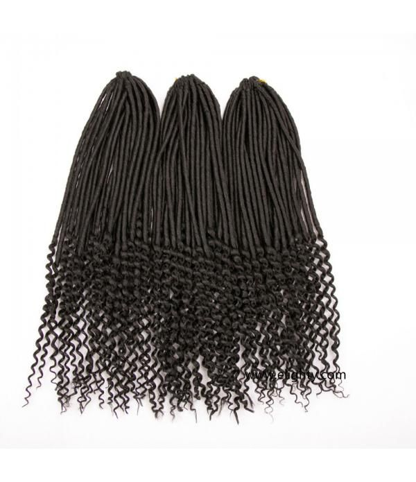 "Goddess Locs Crochet Hair | Wavy Crochet Hair | Synthetic Fiber Hair Extensions 20"" 70g/pack"