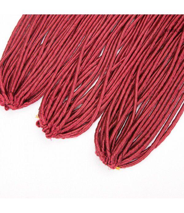 Wavy Crochet Hair | Goddess Faux Locs | Crochet Hair Braids Fiber Hair Extensions 3 Packs 20''