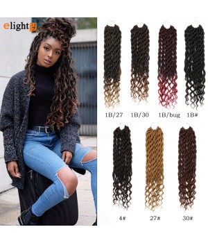 Goddess Faux Locs | Curly Crochet Hair | Wavy Curly Hair With Ends 3 Packs 20 inches