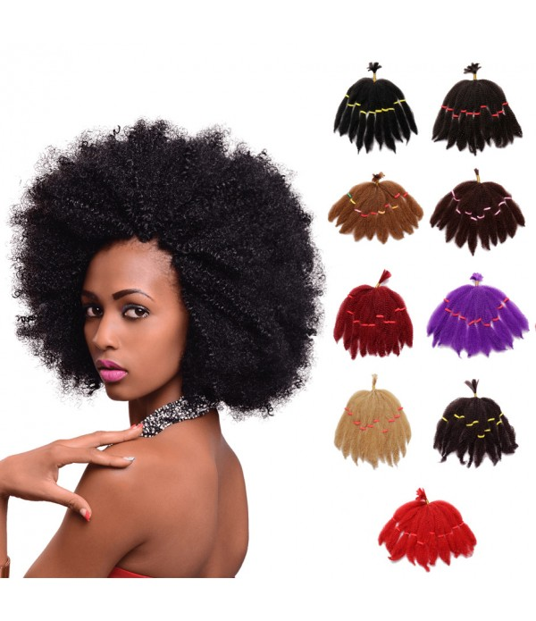 5 Packs Afro Kinky Curly Twist Braiding Hair Synthetic Braiding Hair Extensions for Women