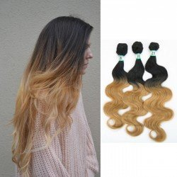 3 Bundles Synthetic Hair Body Wave Ombre Color