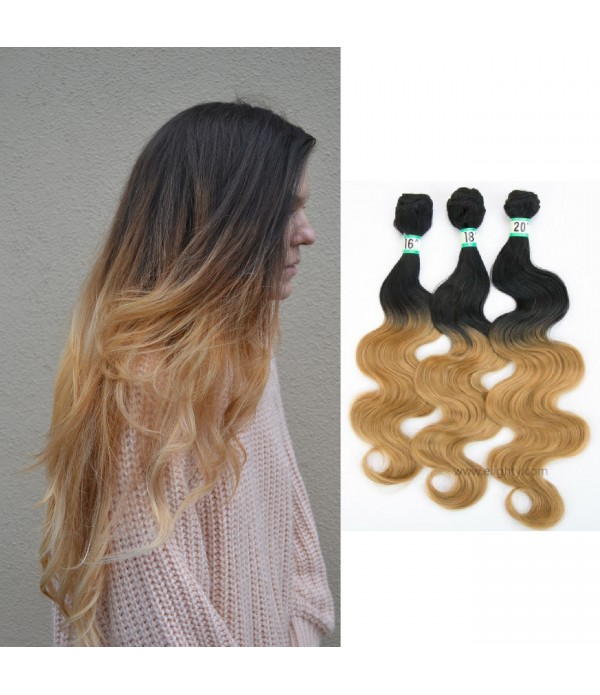 Body Wave | Ombre Hair Extensions | Synthetic Hair...