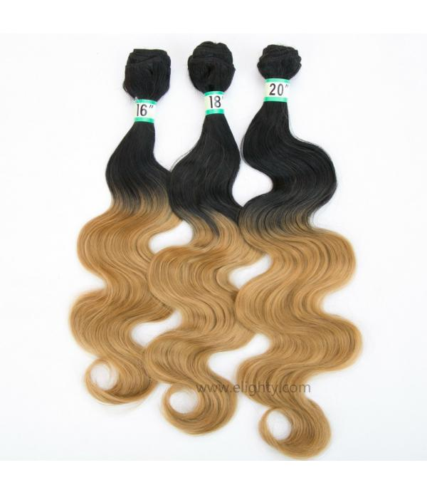 3 Bundles Body Wave T1B/99J Ombre Hair Extensions ...