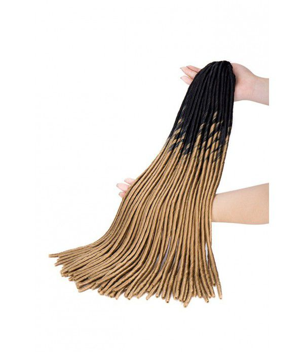 Goddess Braids | Black Ombre Hair | Crochet Faux Locs | Straight Crochet Hair Dreadlock Extensions Fiber hair (20 Roots/Pack, 24 Inches, 110g/Pcs)
